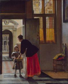 Wallace Collection. 'A Boy Bringing Bread'.  Artist. Pieter de Hooch. 1663.