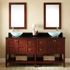 Frisco Vessel Sink Vanity with Mirror - Modern Vanities - Bathroom Vanities - Bathroom Vessel Sink Vanity, Vanity Cabinet, Bathroom Cabinets, Bathroom Vanities, Sinks, Bathrooms, Bathroom Ideas, Modern Vanity, Modern Bathroom