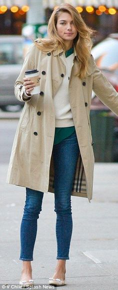 J. Crew model? The Victoria's Secret stunner looked like she belonged in the pages of a preppy fashion catalogue