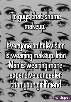 Whisper App Confessions about makeup