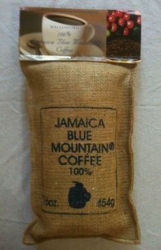 "Jamaica Blue Mountain Coffee , Certified 100% Pure, Roasted Beans in a 1lb Sac - Jamaica Blue Mountain Coffee 1Lb. Bag (also called Jamaica Blue Mountain Wallenford Estate Coffee) - Jamaica Blue Mountain coffee is one of the most sought after coffees in the world. This ""Java of Kings"" has been satisfying coffee connoisseurs around the globe for more than two centuries and is famous for its exquisite flavor, good acidity, a clean refined taste,unu..."