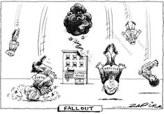 This is a cartoon by South African cartoonist Zapiro. Click on it and check out what it's all about. A Cartoon, Economics, Laugh Out Loud, The Funny, Politics, African, Check, Finance