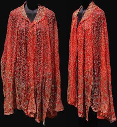 1920s red tulle cloak  - Courtesy of poppysvintageclothing.  From the Fashion Timeline at The Vintage Guild