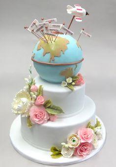 World Travelers Wedding Cake