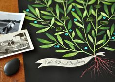 LAUREL Family Tree 4 generations PERSONALIZED 13 X by evajuliet