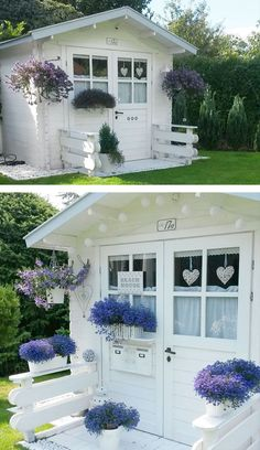 Women Are Creating She-Sheds, A Female Alternative To Man Caves Pics) Men need their space. But so too do women. But while some men prefer to dwell in their Man Caves, some woman prefer an alternative place to relax. Such as the She-Shed. Garden Cottage, Home And Garden, Garden Living, Shed Conversion Ideas, Garden Playhouse, She Sheds, Woman Cave, Shed Homes, Shed Design
