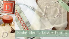 Enjoy machine and hand embroidery classes on Craftsy!