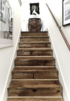 If you prefer a more rustic look on your floors, reclaimed wood is your answer. Imperfect planks provide history and distinction.  Don't expect to save any money though. Salvaged flooring is often more costly than new.