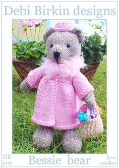 Bessie teddy bear with clothes PDF email by BunnyFriends, $3.99