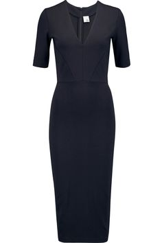 Love this navy dress - sleeves are really nice (always freezing) and it's a great, professional cut.