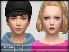 Face Mask Set1 Child by ShojoAngel at TSR via Sims 4 Updates