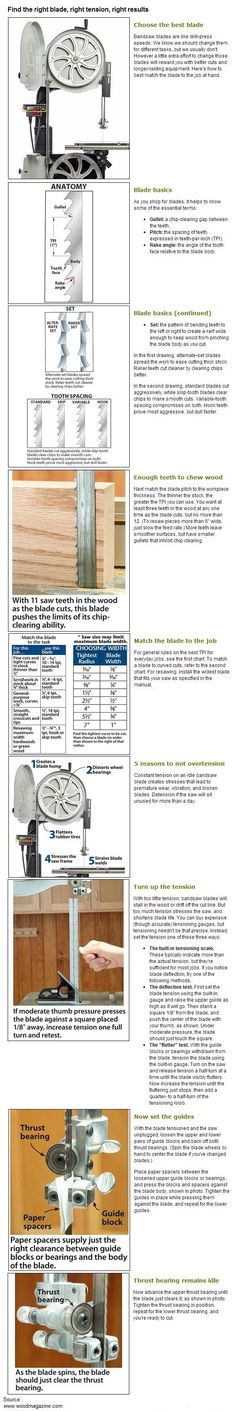 Find the right blade, right tension, right results | WoodworkerZ.com