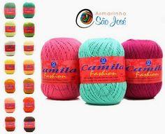 Armarinho São José, Aviamento, Tricô, Crochê, Barbante, Agulhas, linhas para Costura: Receita linha Camila