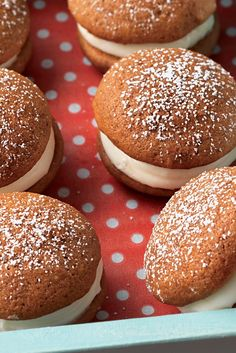 Mini Gingerbread Whoopie Pies with Cream Cheese Filling Recipe