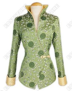 This chic Feminity Brocade Jacket integrates traditional Chinese design with a beautiful western...