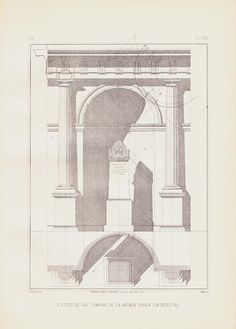 Doric Arcade with Pedestal Shadows Architecture by carambas
