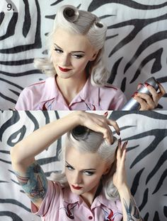 Victory rolls for fine hair pictorial