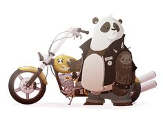 Biker Panda! on Behance