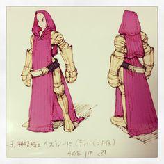 これでどうかな? 神殿騎士イズルートのラフ画。 #FFT… on Twitpic