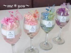 "nahomi hayashi on Instagram: ""❤️母の日カーネーションアロマワックスカップ❤️  プリザーブドのカーネーションで作りました💓   昨年の母の日は、カーネーションハーバリウムを作りましたが、今年はアロマワックスカップです😉🎶  こちらは、本日 @lycka.n…"" Art Walk, Crafts To Sell, Beverage, Wine Glass, Wedding Gifts, Soap, Candles, Tableware, Cake"
