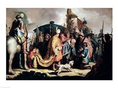 David Offering the Head of Goliath to King Saul by Rembrandt van Rijn art print