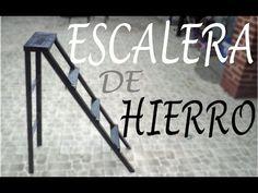 COMO HACER UNA ESCALERA DE HIERRO, paso a paso.... - YouTube