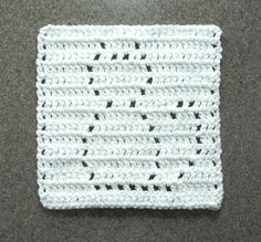 (4) Name: 'Crocheting : Crochet Cat Dishcloth