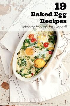 19 Unique Baked Egg Recipes Hearty Enough for Dinner! #Christmas #Dinner #Recipes #Holiday