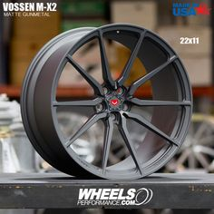 Twenty Two inch Matte Gunmetal @Vossen Forged M-X2 monoblock wheels. WheelsPerformance in Miami is your source for everything Vossen reach them at 1.888.239.4335 or @WheelsPerformance. Worldwide Shipping available at WheelsPerformance.com
