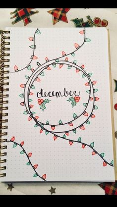 Inspiration for the December Bullet Journal page .-Inspiration für die Dezember-Bullet-Journal-Seite Inspiration for the December Bullet Journal page …, - Bullet Journal School, Bullet Journal Inspo, Bullet Journal Simple, Planner Bullet Journal, Bullet Journal Page, Bullet Journal Christmas, December Bullet Journal, Bullet Journal Aesthetic, Bullet Journal Notebook
