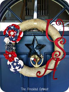 My Favorite Fourth of July Wreaths - Create Craft Love | Create Craft Love