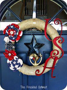 My Favorite Fourth of July Wreaths - Create Craft Love | Create Craft Love