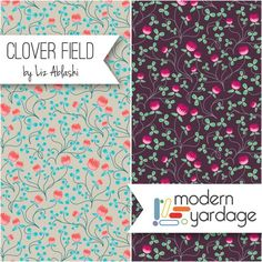 Clover Field by Liz Ablashi for Modern Yardage: