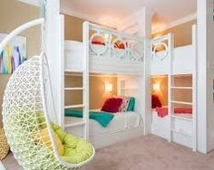 Bunk beds design and room ideas. Most amazing bunk beds for kids. Designing bunk beds that you might like. Modern Bunk Beds, Cool Bunk Beds, Kids Bunk Beds, Modern Loft, Corner Bunk Beds, Custom Bunk Beds, Modern Kids, Rustic Modern, Awesome Bedrooms