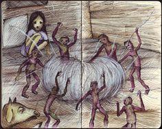 Fukaeri, la Crisálida de Aire y la Little People. 1q84, Haruki Murakami, Little People, Zine, Book Art, Literature, Novels, Artwork, Books