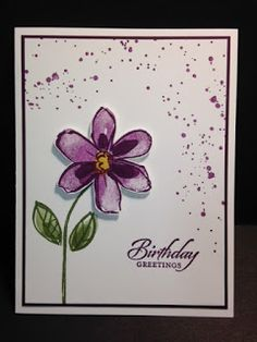 My Creative Corner!: A Garden in Bloom Wetlands Gorgeous Grunge Birthday Card Birthday Cards For Women, Happy Birthday Cards, Homemade Birthday Cards, Homemade Cards, Stamping Up Cards, Cute Cards, Easy Cards, Fall Flowers, Paper Cards