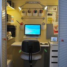 office in closet ideas. Wonderful Office Closet Office Using IKEA Kitchen Supplies In Office Closet Ideas U