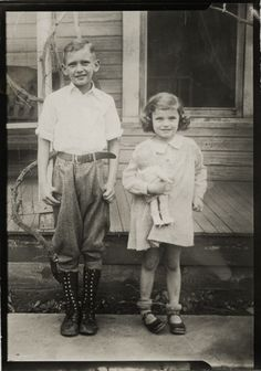 Brother and sister, 1930s.