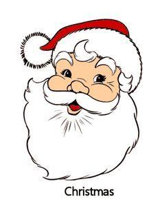Image Result For Free Cartoon Santa Face Printable Christmas