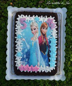 """Las recetillas de Isa: Pastel """"Elsa y Ana"""" para Naia"""