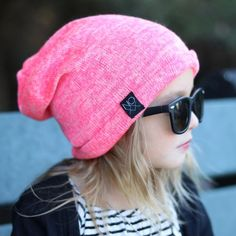Heather Pink | Sweater Knit Beanie