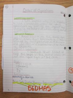 Interactive journaling. Right side is for teacher-directed notes/foldables, left side is for reflections, questions, etc.