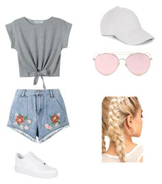"""""""summer luvin"""" by amy-rod ❤ liked on Polyvore featuring House of Holland, WithChic, LMNT, Le Amonie and NIKE"""