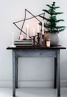 Rustic Hanukkah decor
