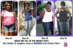 Awesome job Rocking Skinny Fiber with this Mother/daughter team!  http://www.getskinnywithjoanne.com