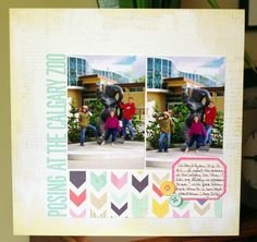 Challenge use two _________ on your layout (could be photos, pieces of patterned paper, stamps, dies, etc. Scrapbooking Layouts, Scrapbook Pages, Challenge 24, Photo Layouts, All Craft, All Video, Craft Videos, Paper Crafts, Video Tutorials