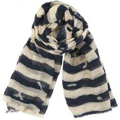 #scarves Becksondergaard Uneven Stripe Scarf £65