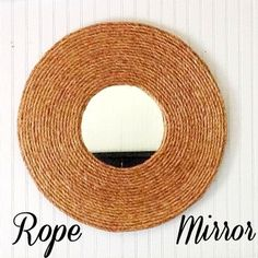 The good thing about this DIY is, it will never go out of style so you can use it for years to come. It's a DIY Rope Mirror and it looks great in any space. Rope Mirror, Diy Mirror, Sunburst Mirror, Mirror Ideas, Wall Mirrors, Mirror Crafts, Diy Wall Art, Diy Art, Wall Decor