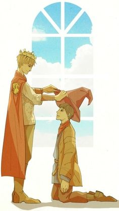 Arthur with Merlin
