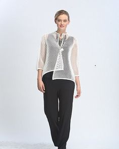 IC Collection - Asymmetric Jacket in White  - 1525J